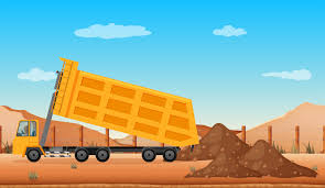 100 Types Of Construction Trucks Dumping Truck At The Construction Site Download Free Vector Art