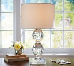 Pottery Barn Crystal Table Lamps by Straight Sided Linen Drum Lamp Shade Pottery Barn Au