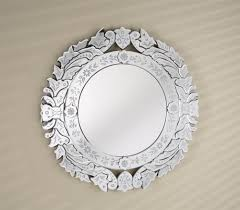 Afina Venetian Medicine Cabinet by Venetian Round Wall Mirror In Cut U0026 Etched Glass Mirror Frame