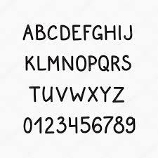 Doodle Latin Alphabet Vector Simple Hand Drawn Letters San Serif Marker Font Decorative For Books Posters Postcard Web Vintage Style