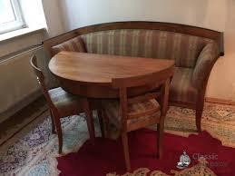 original biedermeier sofa kirsch 185cm grün überzug