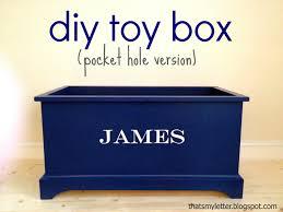 ana white toy box pocket hole version diy projects