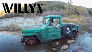 Willys Truck Warehouse Pickup 4 Wheeling In 4k - YouTube