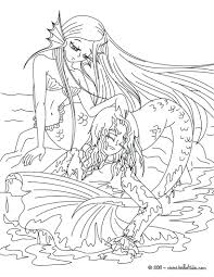 Little Mermaid Coloring Pages Online The Tale Page Book Pdf Full Size