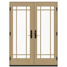 Andersen Outswing French Patio Doors by Andersen 60 In X 80 In 400 Series Frenchwood White Hinged