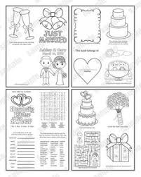 Mini Printable Personalized Wedding Coloring Activity Book Favor Kids 425 X 55 PDF Or JPEG TEMPLATE
