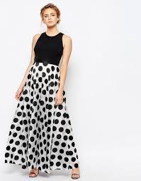 polka dot maxi dress by coast mono