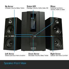 Tcc Sistema De Help Desk by Amazon Com Arion Legacy Ar504lr Bk 2 1 Speaker System With