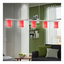 hänge leuchte glas rot chrom diele wohnzimmer g9 beleuchtung 5 flammig eglo 88547 dress