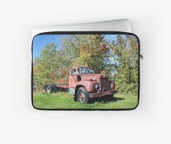 100 Old Mack Trucks Red Truck Laptop Sleeve By Bonita Dubil