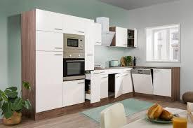 respekta l küchenzeile 370cm weiß eiche york kbl370eywmisgke