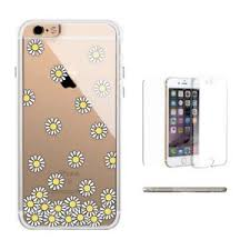 360° Full Protection Daisy Flower Clear iPhone Case Cute