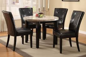 Exquisite Round Kitchen Table Sets With Marble Surface Cool Leather Chairs Countertop