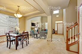 Dining Area And Living Room With Entryway Royalty Free Stock Photo