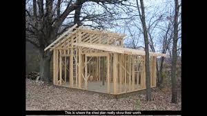 Gambrel Shed Plans 16x20 by Shed Plans With Porch Youtube