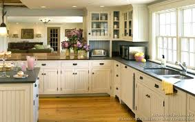 Cabin Style Kitchen Cabinet Country White Ideas Unique Rustic