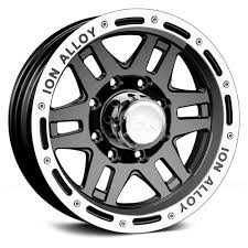 100 4x4 Truck Rims ION ALLOY 133 Wheels Black With Machined Lip 1336835B5M