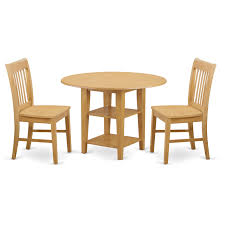 East West Furniture SUNO3-OAK-W 3 Piece Sudbury Set With One Round Dinette  Table And 2 Dinette Chairs With Wood Seat In A Warm Oak Finish., Wood Seat,  ... Sunset Trading Co Selections Round Dinette Table Winners Only Quails Run 5 Piece Pedestal And 42 Ding With 4 Side Chairs Shown In Rustic Hickory Brown Maple An Asbury Finish Oak Set Rustica 54 W What I Want For My Kitchena Small Round Pedestal Table Archivist Crown Mark Camelia Espresso Glass Top Family Wood Kitchen Room Breakfast Fniture Modern Unique Sets Design Models New Traditional Cophagen 3piece Cinnamon