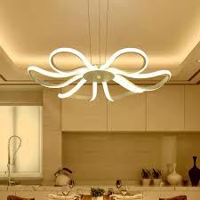 moderne led pendelleuchte wohnzimmer decor acryl dimmbare blume form hängeleuchte mit schmetterling laras glanz