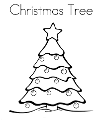 Christmas Tree Coloring Pages Image