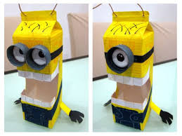 Minion Lantern Mid Autumn Festival Is Coming Soon And One Of Shermaynes School Project To Create A Handmade Using Recycled Materials