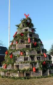 wood versus metal maine s lobster trap christmas trees maine