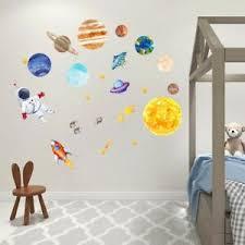 details zu weltraumrakete wandtattoo aufkleber raumfahrer kinder schlafzimmer dekoration