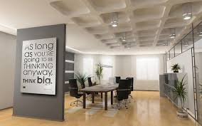 Corporate Interior Wall Art For The Office Design Grey Glass Modern Contemporary Table Wooden Black Fabric Chair