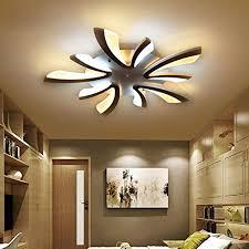 36w led modern deckenleuchte elegante wohnzimmer schlafzimmer deckenle romantische warm 5 flammig deckenbeleuchtung schwarz acryl lenschirm