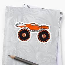 Cool Monster Truck Comic Eyes Face Cartoon Cars Turbo