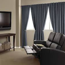 Noise Reducing Curtains Uk by Absolute Zero Velvet Blackout Home Theater Curtain Panel 95 Inch