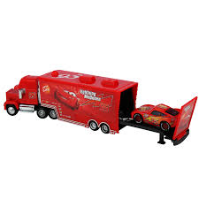 AU Pixar Cars 2 NO.95 Mack Truck & Blue Lightning McQUEEN Metal Car ...