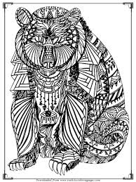 Printable Bear Coloring Pages For Adults