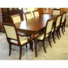 American Drew Dining Table W/8 Chairs | Upscale Consignment American Drew Queen Anne Ding Table W 12 Chairs Credenza Grantham Hall 7 Piece And Chair Set Ad Modern Synergy Cherry Grove Antique Oval Room Amazoncom Park Studio Weathered Taupe 2 9 Cozy Idea To Jessica Mcclintock Mcclintock Home Romance Rectangular Leg Tribecca 091761 Square Have To Have It Grand Isle 5 Pc Round Cherry Pieces Used 6 Leaf