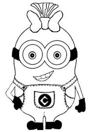 Minion Drawings Black And White
