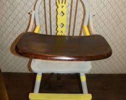 Eddie Bauer Wooden High Chair by Wooden High Chair Etsy