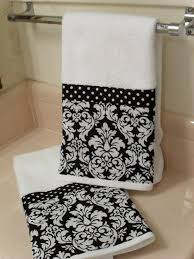 Decorative Hand Towel Sets by Black Damask Bathroom Black Damask Bath Hand Towels Set Of 2 By