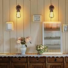 2er wandle industrial e27 vintage wandleuchte rustikal innen schwenkbar für schlafzimmer wohnzimmer esstisch dimmbar ohne leuchtmittel