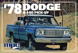 100 78 Dodge Truck 125 MPC D100 Pickup Kit News Reviews Model