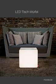 led tisch würfel mit weissen oder farbigem licht led tisch