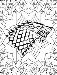 Adult Coloring Pages House Of Starks