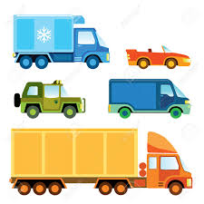 Funny Clipart Truck - Pencil And In Color Funny Clipart Truck