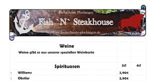 speisekarte fish n steakhouse paparazzi in offenbach am