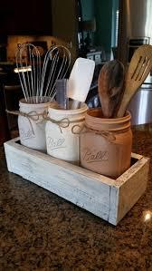 Rustic Kitchen Decorating Ideas Popular Photos On Cdbeccacddaee Utensils Mason Jars Jpg