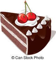Chocolate cake with cherry Clipartby neyro 222 chocolate cake