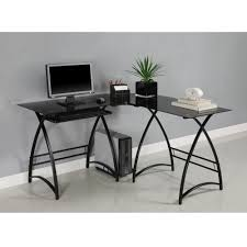 Walker Edison 3 Piece Contemporary Desk Multi by Desks Soreã O Walker Edison Btspld46bl Glass Corner Desk Office