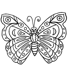 Click To See Printable Version Of Butterfly Coloring Page