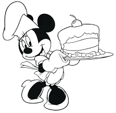 Mouse Birthday Cake Coloring Page Kids Adults Cartoon Characters Pages Mickey Free Minnie Face Disney Christmas