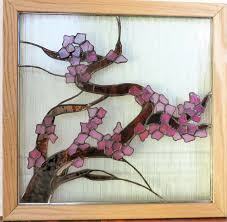 Cherry Blossom Curtain Panels by Stained Glass Window Art Nature Panel Wildlife Wren By Galeazglass