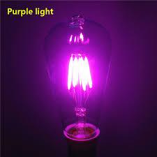 e27 ac220v 4w purple blue green bulb home decor l